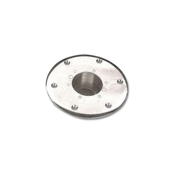 Support encastre pied de table conique chrome 170 mm table pour bateau - Pied de table bateau ...