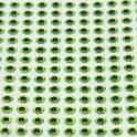 Yeux 3D - Chartreuse - 6mm - 196 pcs YEU731 pour LEURRES ou TETES PLOMBEES