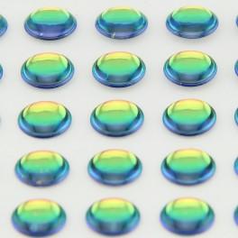Yeux 3D - Irisé 6mm - 90 pcs YEU727 pour LEURRES ou TETES PLOMBEES