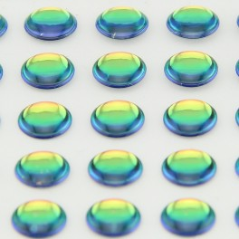 Yeux 3D - Irisé 6mm - 98 pcs pour LEURRES, MOUCHES ou TETES PLOMBEES