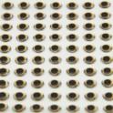 Yeux 3D - Argent OR -Oval Pupil- 7mm - 120 pcs pour LEURRES, MOUCHES ou TETES PL