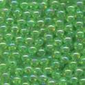 MICRO-PERLES EN VERRE 2 mm - CRISTAL VERT - Sach. 200