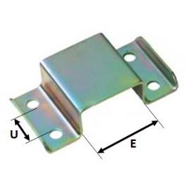 Oméga d'assemblage pour tube 120 x 60 mm avec tube 50 x 50 mm pour remorque