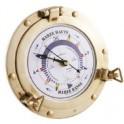 Pendule des Marée - Hublot laiton vernis - 180 mm - Fond blanc
