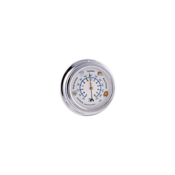 Baromètre - Chromé 145 mm - Fond Farbes alciumpeche
