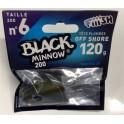 1 tete plombee FIIISH Extra Deep - 120g - Kaki - BLACK MINNOW 160
