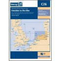 CARTE MARINE IMRAY C26 IJMUIDEN TO DIE ELBE
