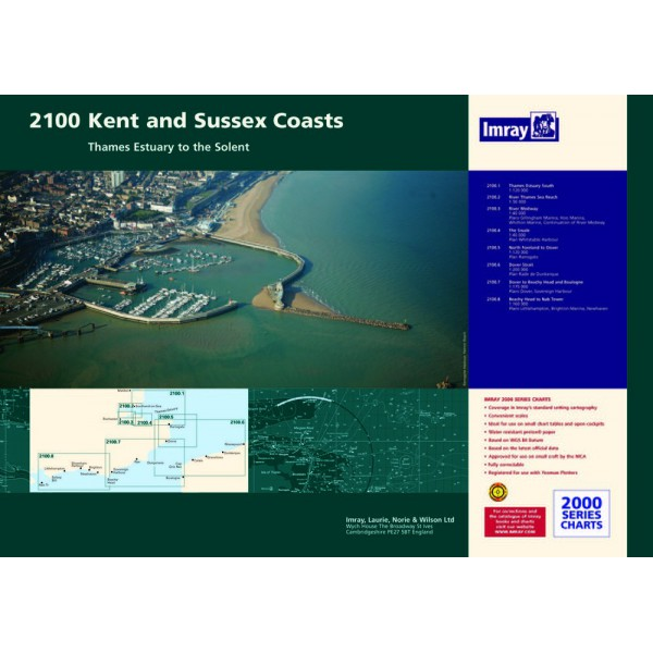 PACK CARTES IMRAY 2100 KENT AND SUSSEX COASTS alciumpeche