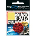 PERLES SUNSET ROUND BEADS RED N2 ROUGE ---ndd