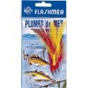 BAS DE LIGNE  FLASHMER GROSSE PECHE 3 HAMECONS 7-O BLANCHE