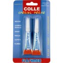 BLISTER 2 TUBES DE COLLE FLASHMER 3 g
