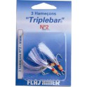 HAMECON TRIPLE FLASHMER BLISTER 3x CARBONE TRIPLEBAR N°2
