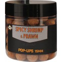 BOUILLETTES DYNAMITE BAITS SPICY SHRIMP PRAWN POP UPS 15MM ---ndd