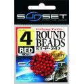 ROUND BEADS N4-RED – SUNSET ---ndd