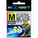 PERLES SUNSET FLOATING BEADS S-FGREEN ---ndd