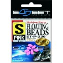 PERLES SUNSET FLOATING BEADS M-PINK ---ndd