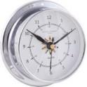 Horloge Marine 12 Heures - CHROME Fond Drapeau 115 mm