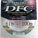 NYLON YGK FLUOROCARBONE NITLON DFC 06 LB – PE 1,5 – 0,218 – 100M